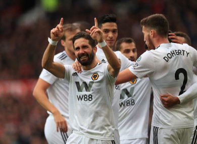 Moutinho silenced Old Trafford and grabbed a point for Wolves.