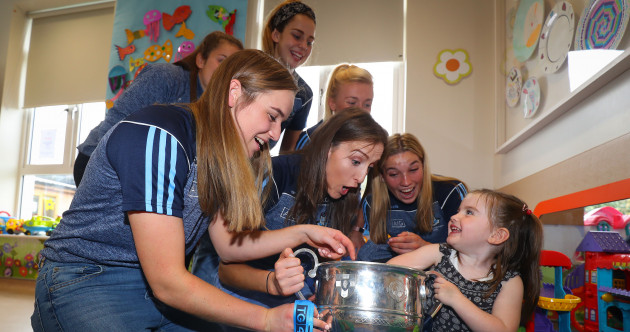 Dublin's All-Ireland heroes bring the Brendan Martin Cup to Crumlin Children's Hospital