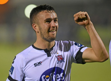 Duffy has scored 12 Premier Division goals for Dundalk this season.