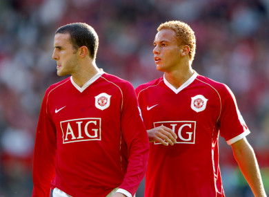 Ex-Man United team-mates O'Shea and Brown back in 2006.