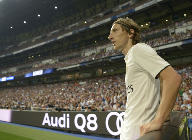 Luka Modric pictured during Real Madrid's match with Espanyol at the weekend.