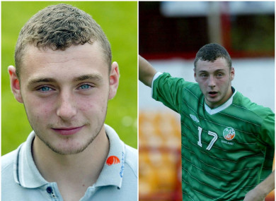 Mark Quigley pictured during his time as an Ireland U19 international.
