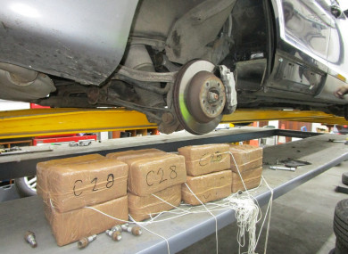 Cannabis worth an estimated street value of €403,000 was uncovered in the  chassis sills of the jeep.