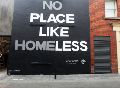 A mural responding to the homeless crisis in Dublin