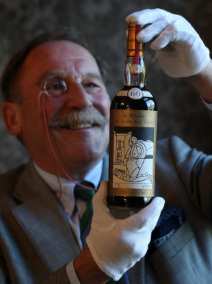 Whisky expert Charles MacLean casting his eye