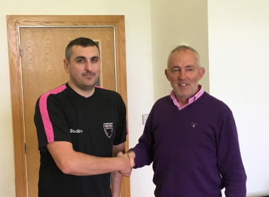 New Wexford FC manager Brian O'Sullivan (left) pictured with chairman Sean O'Shea.