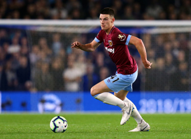 Declan Rice (file pic).