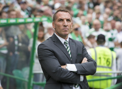 Celtic manager Brendan Rodgers.