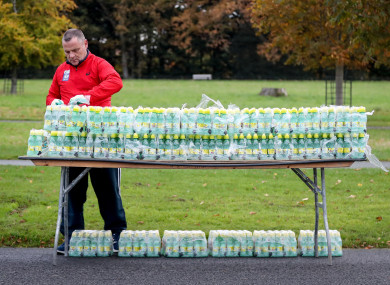 The race director suggests plenty of water whatever the temperature on Sunday.