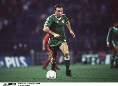 David Langan earned 26 caps for Ireland between 1978 and 1987.