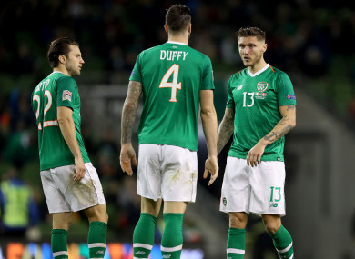 Ireland were held to a 0-0 draw against Denmark on Saturday night at Lansdowne Road.