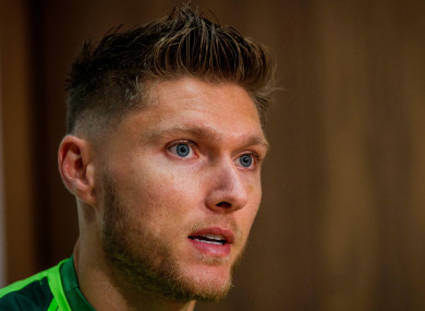 Jeff Hendrick pictured at today's press conference.