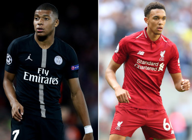 Nominees: Mbappe and Alexander-Arnold.