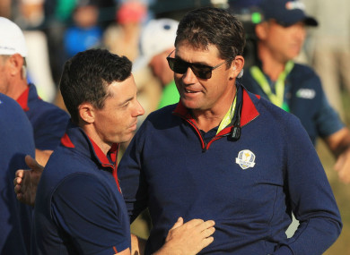 Rory McIlroy and Padraig Harrington in Paris over the weekend.