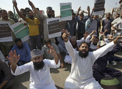 Protests erupted in Karachi after Pakistan's Supreme Court ordered authorities to free Asia Bibi who had been on death row for blasphemy.