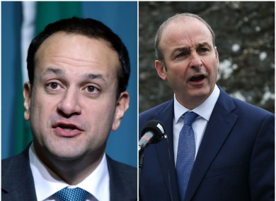 Micheál Martin wrote to Varadkar recently saying now was not the time for an election.