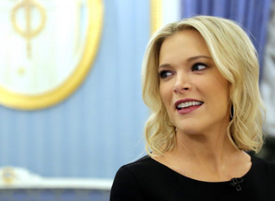 NBC reporter Megyn Kelly during an interview with Russian President Vladimir Putin.