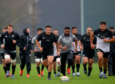 New Zealand in training today.