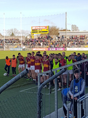 Miltown pictured before the national anthem at the Clare Championship final at the end of October.