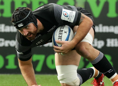 Newcastle Falcons back-row Gary Graham.