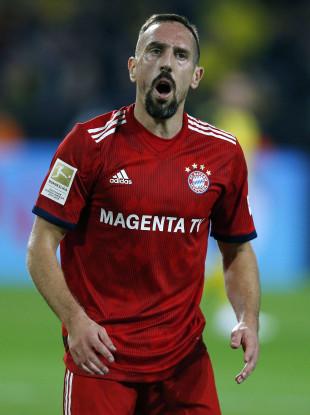 Ribery during Saturday's Bundesliga game.