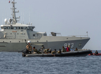 Indonesian Navy frogmen conduct a search operation for the victims of Lion Air plane crash