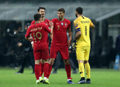 Portugal were outplayed at the San Siro but earned a point.