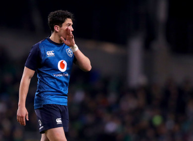 Joey Carbery could provide cover at out-half, scrum-half and fullback.