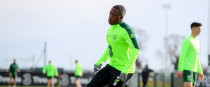 Michael Obafemi pictured during Ireland training this week.