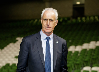 Newly appointed Republic of Ireland manager Mick McCarthy.
