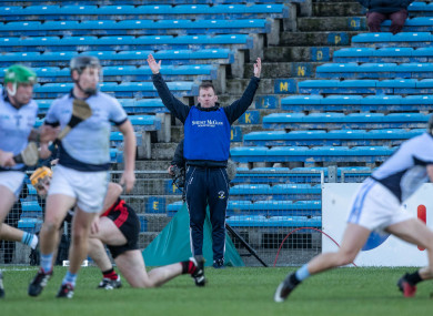 Na Piarsaigh boss Paul Beary during yesterday's Munster final.