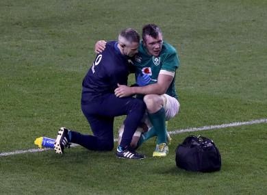 O'Mahony takes treatment on Saturday.