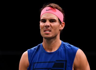 World number two Rafael Nadal