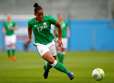 Jarrett in action for Ireland during a 2019 World Cup qualifier.