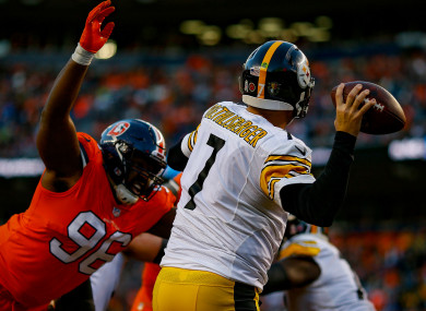 Ben Roethlisberger: threw for 462 yards.