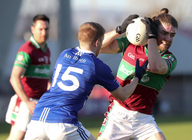 Ruairi Mooney, right, and Coleraine came up short despite a battling performance.