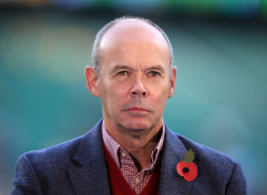 Clive Woodward (file pic).