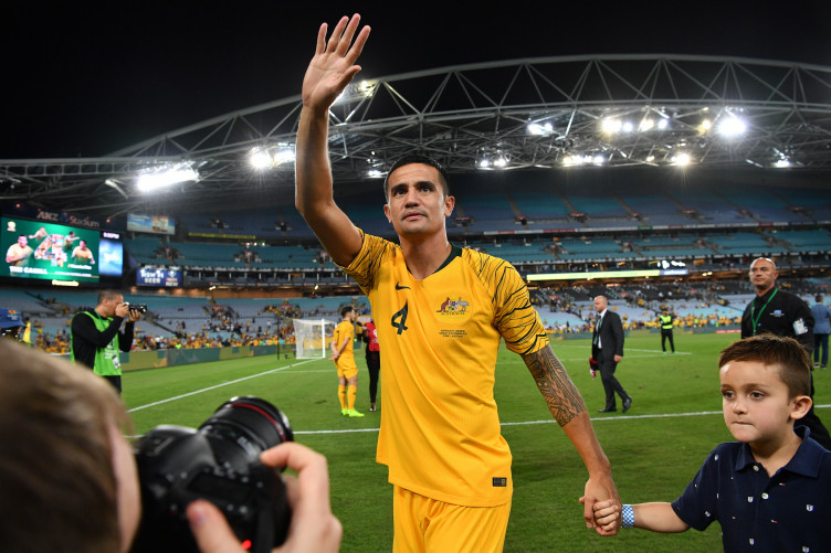 Image result for pic of Australia bid farewell to Cahill in 3-0 win over Lebanon