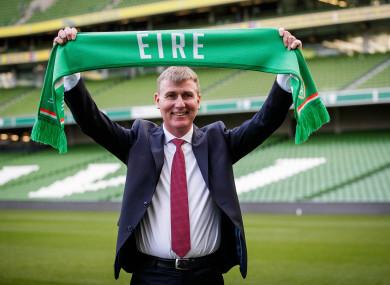 Kenny pictured at the Aviva Stadium on Monday.