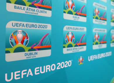 Dublin is one of 12 cities hosting the tournament in two years' time.