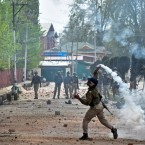 Clashes broke out in April between government forces and students in Srinagar over the killing of 17 people including 13 militants and 4 civilians.<span class=