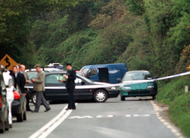 The scene in Ashford Co Wicklow of the shooting between the Gardai and Republicans