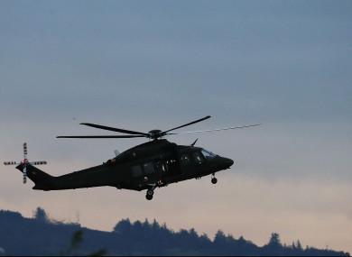 An AW-139 helicopter at Casement Aerodrome, Baldonnel, Co. Dublin.