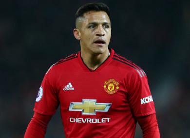 Manchester United forward Alexis Sanchez.