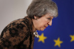 British Prime Minister Theresa May at a media conference at an EU summit in Brussels last Friday.