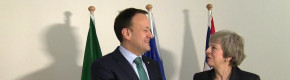 Theresa May meets Varadkar in Brussels before seeking compromise to save her Brexit deal