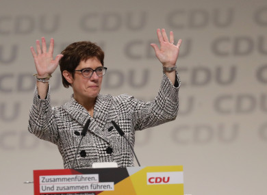 The newly elected CDU chairman Annegret Kramp-Karrenbauer