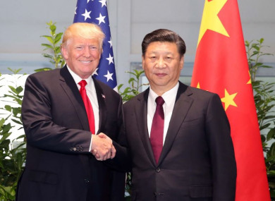 US President Donald Trump and Chinese President Xi Jinping pictured at the G20 Summit in Germany in 2017.
