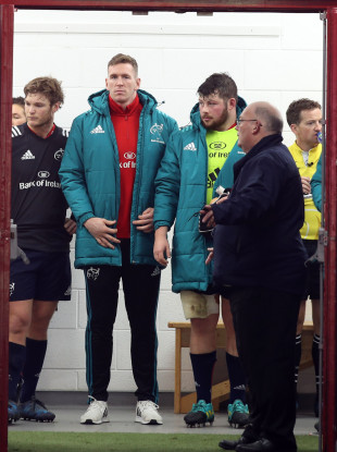 Chris Farrell in the tunnel after being withdrawn from the starting line-up.