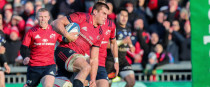 Stander on his way to scoring at Thomond Park on Sunday.